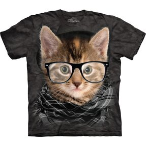 Hipszter cica póló