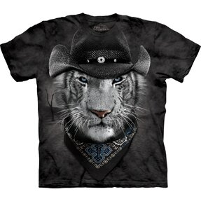 T-Shirt Weißer Tiger Cowboy