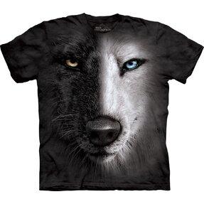Fekete-fehér farkas póló
