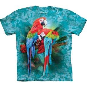 T-Shirt Farbige Papageien
