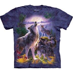 Tričko Vlci a měsíc
