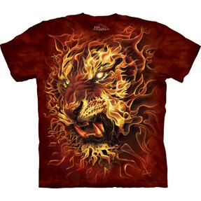 T-Shirt Feuriger Tiger