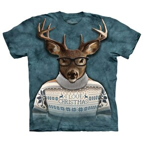 Tričko Jelen ve vánočním oblečení