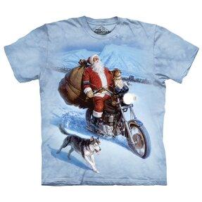 Tričko Santa na motorke