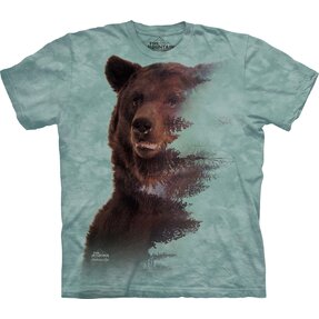 Tricou Brown Bear Forest