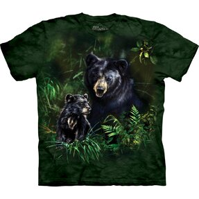Tricou Black Bear And Cub