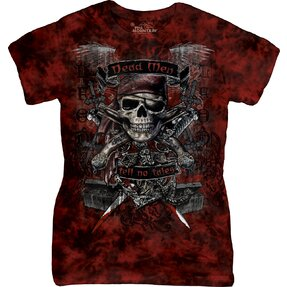 Damen T-Shirt Piratenschädel
