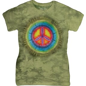 Dámské tričko Tie Dye Mír