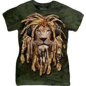 Dámské tričko Lev s dredy