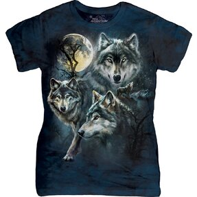 Dámske tričko Mesačné vlky