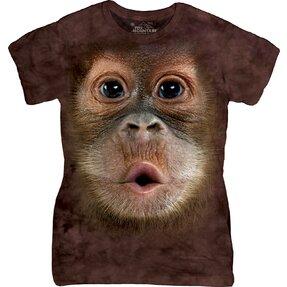 Tricou damă Big Face Baby Orangutan