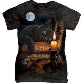Damen T-Shirt Katze bei der Kerze