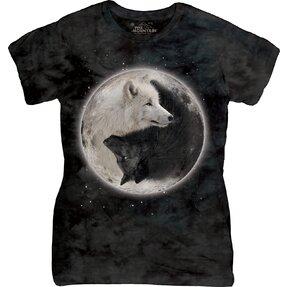 Dámske tričko Jin Jang Vlky