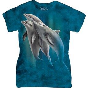 Női póló úszó delfin