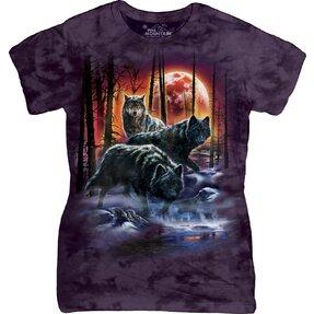 Dámske tričko Vlky s ohňom a ľadom