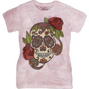 Dámske tričko Lebka Paisley Sugar