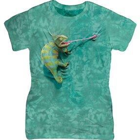 Tricou damă Climbing Chameleon