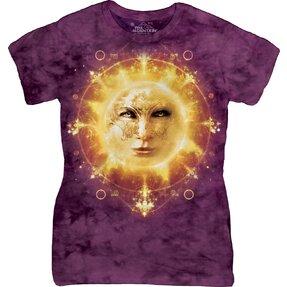 Damen T-Shirt Sonniges Gesicht