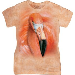 Damen T-Shirt Flamingo