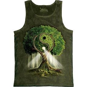 Unterhemd Yin Yang Baum