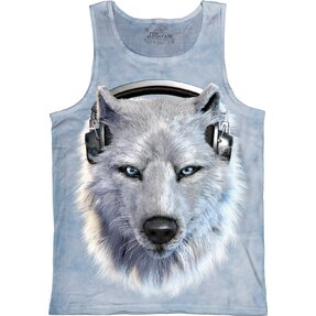 Tielko Biely Vlk so Slúchadlami