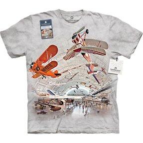 T-Shirt Flugzeuge im Hangar