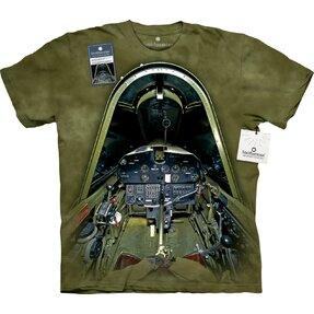 Katonai repülőgép pilótafülkéje póló