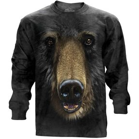Black Bear Face  Adult Long