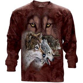 Dlhý rukáv Nájdi 9 vlkov