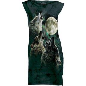 Minišaty Tri vlky vyjúce na mesiac