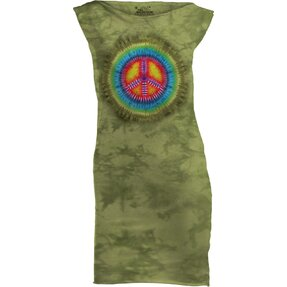Peace Tie Dye Retro Mini Dress
