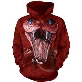 Kapucnis pulóver Piros mamba