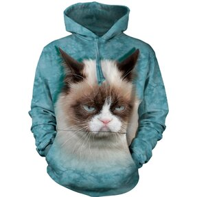 Mikina s kapucňou Grumpy cat