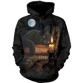 Mikina s kapucí Kočka při svíčce