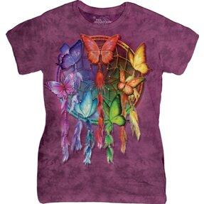 Damen T-Shirt Traumfänger mit Schmetterlingen