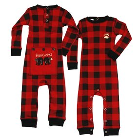 Karierter Kinder Einteiliger Pyjama - Baby