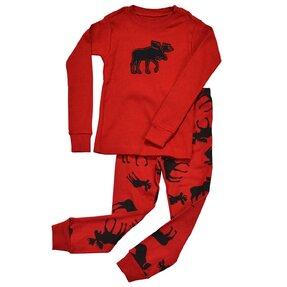 Roter Kinder Zweiteiliger Pyjama – Das Elchtier