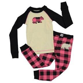 Dětské Dvoudílné Pyžamo Medvěd – Růžové