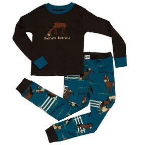 Dětské Dvoudílné Pyžamo Pasoucí se Koník – Chlapecké