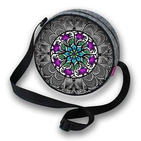 Runde Handtasche Twist - Krokus
