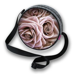 Kulatá kabelka Twist - Růže