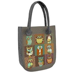 City Shoulder Handbag - Owl Pairs