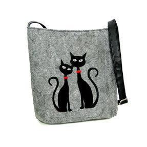Messenger oldaltáska - Két macska