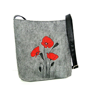 Handtasche Messenger - Rote Mohne