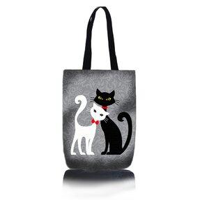 Shop Shoulder Bag - Black and White Cat