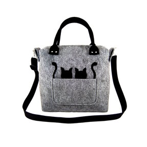 Woman Purse - Cats in Pocket
