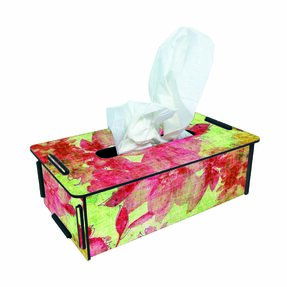 Tissue-Box - Blossoms red/yellow