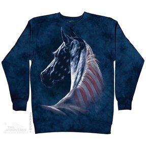Sweatshirt ohne Kapuze Amerikanisches Pferd