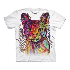 Bílé tričko s krátkým rukávem Habešská kočka