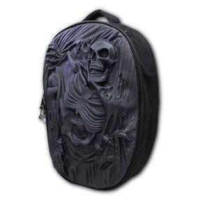 Čierny 3D ruksak Kostra